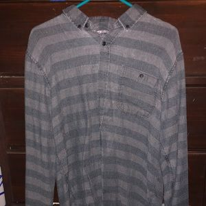 Striped Grey Flannel Long Sleeve